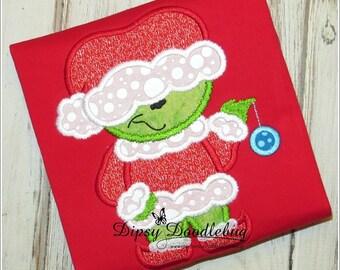 Christmas Pajamas - Santa Christmas Pajamas - Green Santa Pajamas- Childrens Pajamas- Girls Christmas Pajama - Boys Christmas Pajama