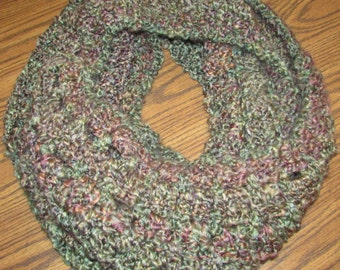 Soft, Cozy, Herbal Garden (Plush Greens and Browns) Infinity Scarf