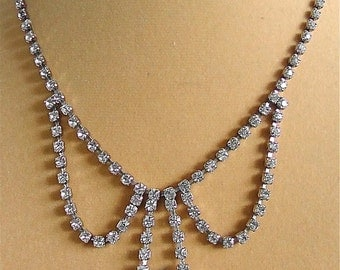 Crystal Diamond Vintage Necklace
