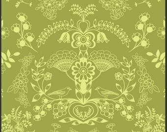 Art Gallery Pat Bravo, Modernology - Floralism in Fresh Grass MO-3804 - Available in Yards, Half Yards and Fat Quarters