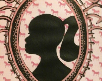 Cowgirl shadow  portrait