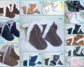 Genuine leather baby booties, baby booties , fur boots, leather boots, baby girl leather booties, toddler bootie