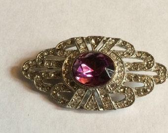 Sweet Victorian rhinestone brooch
