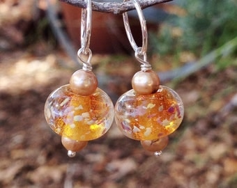 Charms--Sparkly Amber