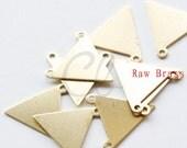 20pcs Raw Brass Triangle Link - 16mm (1995C-P-335)