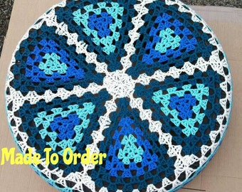 Granny Triangle Crochet Spare Tire Cover