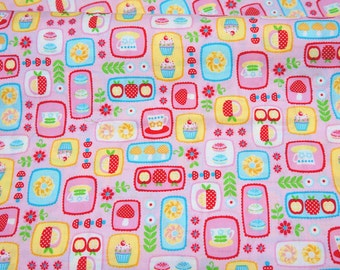 1 meter Japanese fabric  sweets print A9