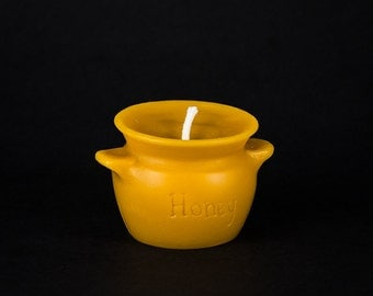 Pure Beeswax Candle - Honey Pot Crock candle