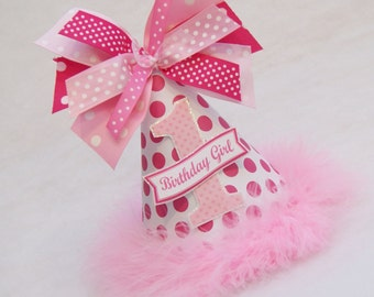 Hot Pink Polka Dot Party Hat