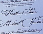 Letterpress Wedding Invitation sample, Wedding invitation, Calligraphic Wedding invitation, Classic wedding invitation, Wedding invitations