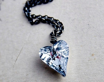 Crystal Heart Necklace, Crystal Heart, Heart Necklace, Heart Pendant, Crystal Necklace, Crystal Pendant, Swarovski Heart, Swarovski Crystal