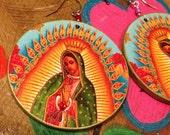 Nuestra Señora de Guadalupe Earrings - XL