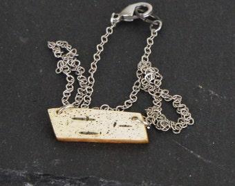 Birch bark necklace, Petite point