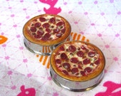 "1 1/2"" Pizza Plugs - Meat Lover's Realistic Pepperoni Pizza Food Plugs"