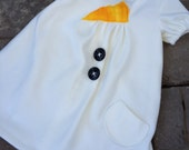 Do you Want to build a snowman Frozn-inspired girls fleece dress etsykids team