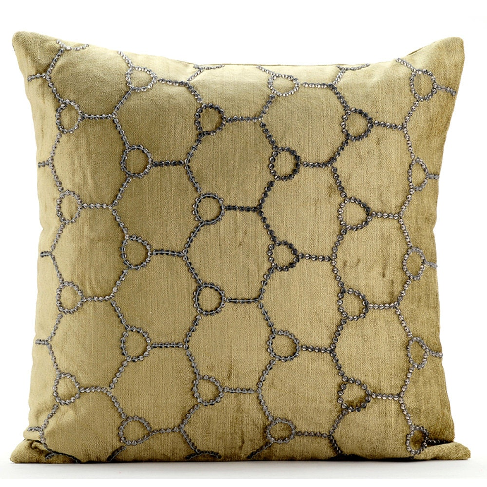 Luxury sage green decorative pillows cover 16x16 for Luxury decorative throw pillows