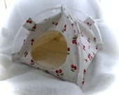 Tiny Cherries Small Snuggle Tent for Hedgehogs Rats Small Mammals Zhu Zhu
