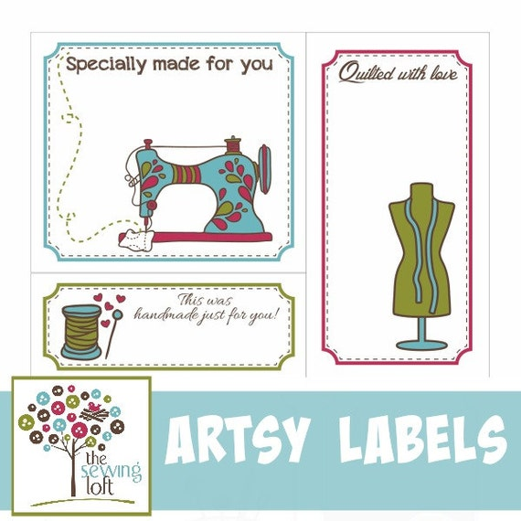 Bewitching image within free printable quilt labels