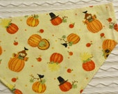 Dog Bandana with Pumpkins Scarecrows COLLAR Style XS to XL