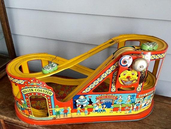 vintage J. Chein Roller Coaster