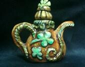 Irish Tea Pot Wish Bottle