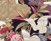 Fabric - Japanese Cotton  Kimono Fabric - Crane 1 yard 8 in