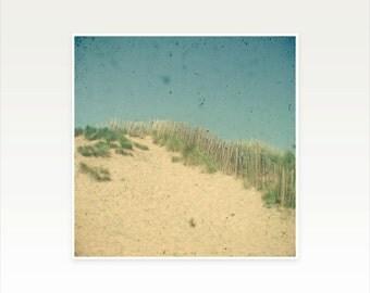 Beach Art, Landscape Photography, Seaside Decor, Neutral Colors, Bathroom Decor, Coastal, Beige and Indigo - Sand Dunes