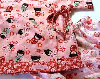 Baby Kimono Top and bloomer set in Sakura Dolls