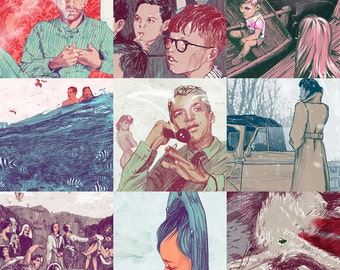 "Nine Stories - Entire Series - 13"" x 19"" Fine Art Prints by Jonny Ruzzo"
