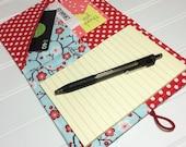 Mini Shopper - Notepad holder List taker - winter blossoms