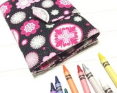 Crayon Wallet - READY TO SHIP Hip Trendy Travel -  Pink Glitter medallions