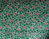 """Leaves and Berries Cotton Fabric for Sewing Crafts 37-38"""" wide 3.25 yards"""