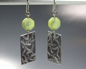 Geometric Upcycled Aluminum Earrings