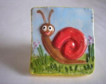 Sweet lil Snail Knob