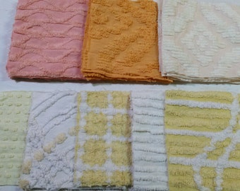 26 CHENILLE BLOCKS 6x6, Assorted YELLOW Quilting Squares,Quilt Blocks,Quilt Supplies,Chenille Quilt Squares,Craft Chenille,Sewing Supplies