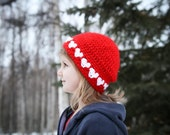 Crochet Hat Pattern - I HEART U Hat/Headband (Newborn to Adult)
