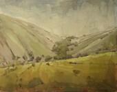 Original Landscape Oil Painting | Utah Canyon | Rural Farmland | Sardine Canyon | 8 x 10
