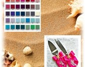 Beach Wedding cake knife set, Starfish cake server and knife custom colors