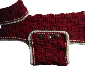 Dog Sweater Pattern - XL size
