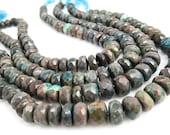 Oregon Opal Beads, 10mm Rondelles, Oregon Opal Rondelles, Green Gemstone, Loveofjewelry, Weddings, Brides Bridal, SKU 4205A