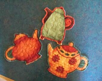 Teapot Trivets Table Decor Housewares Handmade Home Decor