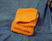 Knitted Cotton Dish Scrub Cloths, Orange Crush Color