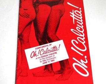 Oh! Calcutta! 1984 Broadway 15th Anniversary Souvenir Show Program Edison Theater NYC Photo Book