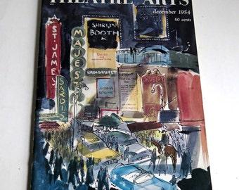 Theatre Arts Magazine December 1954 Theatrical Broadway History, Broadway Magazine, NYC Theatre Lore