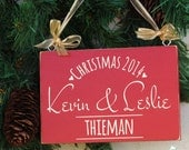 Personalized Christmas Ornament, Personalized Christmas Gift by Rusty Cricket