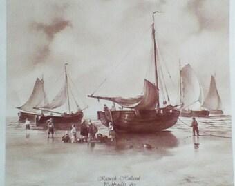 Ceramic Decals Retro Sailing Boat