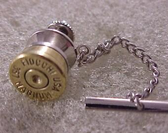 Bullet Tie Tack Fiocchi 357 Magnum Recycled Repurposed