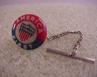 Tie Tack America First Political Statement Pin - Free Shipping to USA