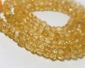 Citrine Gemstone Faceted Rondelles,  3.5mm Semi Precious Gemstone.  (0cit). SALE Reduced 20 Percent