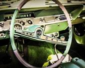1962 Chevrolet Impala SS Steering Wheel & Dashboard Fine Art Print- Car Art, Antique Car, Home Decor, Nursery Decor, Wall Art, Vintage Car
